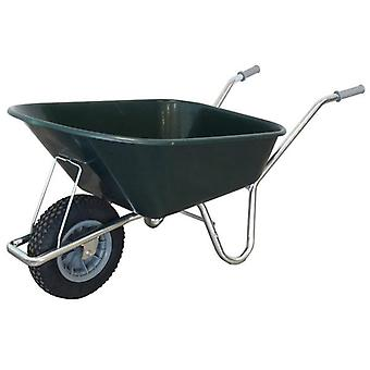 County Cruiser 100L Green Garden Wheelbarrow