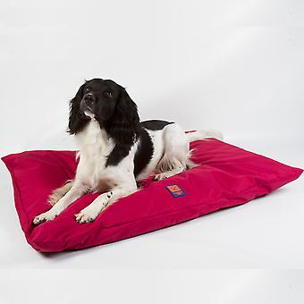 Ginger Ted Deep Cushion Waterproof Dog Bed  Cherry Red with Removeable Washable Cover