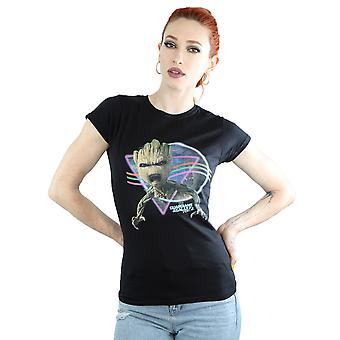 Marvel Women's Guardians Of The Galaxy Neon Groot T-Shirt
