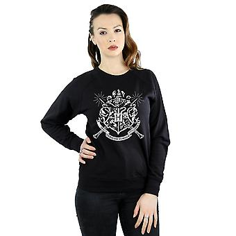 Harry Potter Women's Hogwarts Badge Wands Sweatshirt