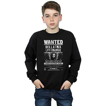 Harry Potter Boys Bellatrix Lestrange Wanted Sweatshirt