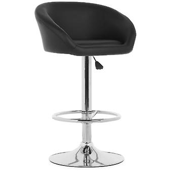 Wellindal Black Dossier Adjustable Stool (Furniture , Chairs , Stools)