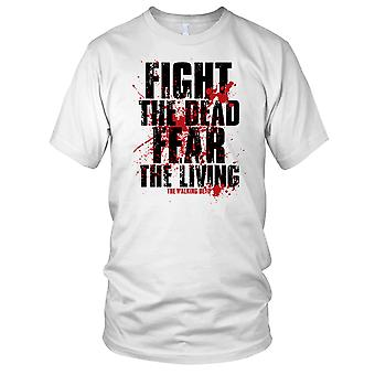 Fight The Dead Fear The Living Walking Dead Zombie Kids T Shirt