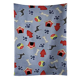 Carolines tesoros BB3975KTWL gran danés perro casa colección toalla de cocina