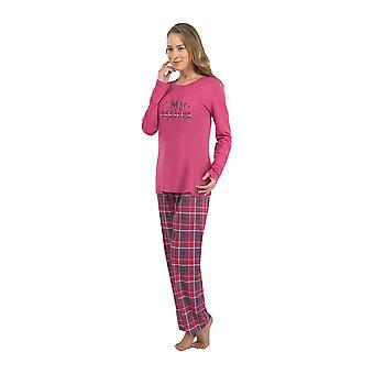 BlackSpade 6114-232 Women's Dark Fucshia Pink Pajama Sleepwear Pyjama Set