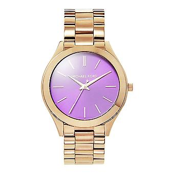 Michael Kors Watches Mk3293 Runway Purple & Rose Gold Ladies Watch