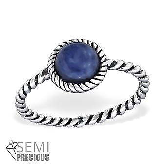 Sodalite - 925 Sterling Silver Cubic Zirconia Rings - W30664x