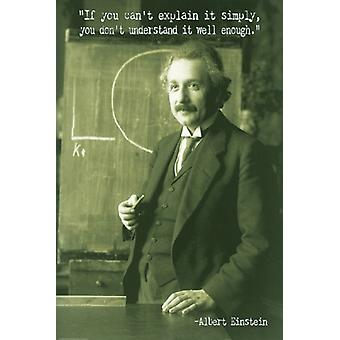 Albert Einstein Explain It Simply Poster Print (24 x 36)
