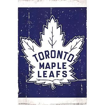 Toronto Maple Leafs - Retro Logo 13 Poster Poster Print