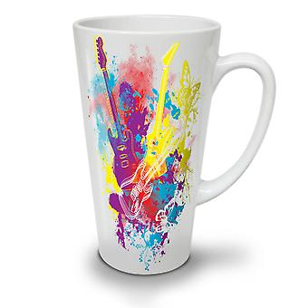 Guitar Dream Player NEW White Tea Coffee Ceramic Latte Mug 17 oz | Wellcoda