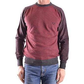 Fred Perry Herren MCBI128138O Bordeauxrot Wolle Sweater