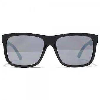 Guess Square Sunglasses In Shiny Black