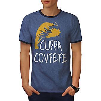 Taza de té Covfefe hombres Heather azul / NavyRinger camiseta | Wellcoda