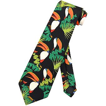 Tukan Vögel Krawatte Tukane in Bäumen Design Herren Krawatte