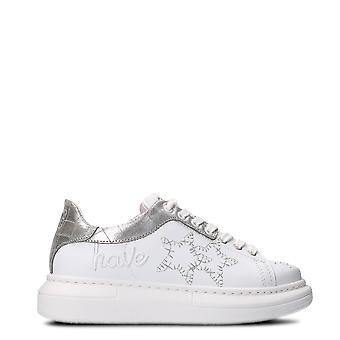 2Star women's 2S1895BIASILVER silver/white leather of sneakers