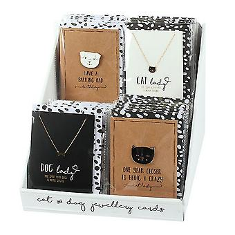 Something Different Cat And Dog Cards With Jewellery (Set Of 32)