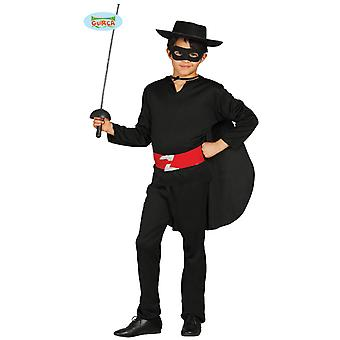 Bandit Räuber Fechter Volksheld Maskenmann Kostüm Kinder