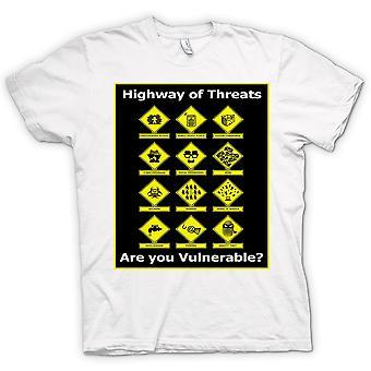 Mens T-shirt - Internet Security Threats - Funny
