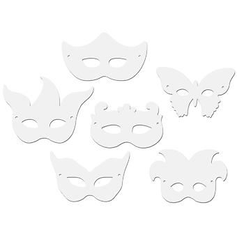Paper Mardi Gras Masks 24 Pkg Assorted Shapes 4651