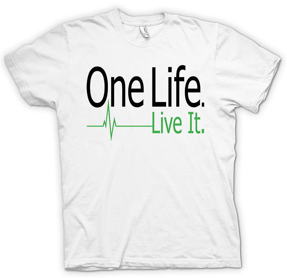 Womens T-shirt - One Life, Live It