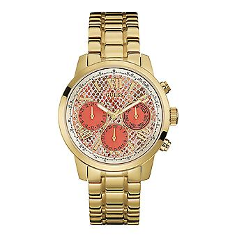 Guess W0330L11 Ladies Gold-Tone Multi-Function Watch