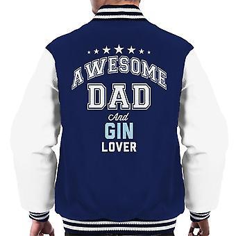Super Dad und Gin-Liebhaber Männer Varsity Jacke