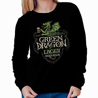 Lord Of The Rings Green Dragon Lager Women's Sweatshirt