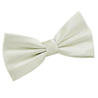 Ivory Solid Check Pre-Tied Bow Tie