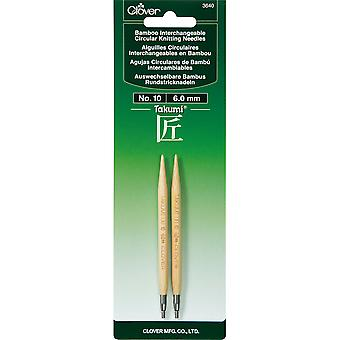 Takumi Bamboo Interchangeable Circular Knitting Needles-Size 10/6mm