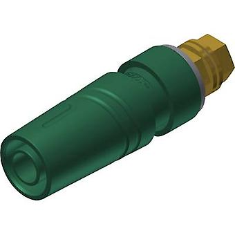 SKS Hirschmann SAB 2600 G M4 Au Safety jack socket Socket, vertical vertical Pin diameter: 4 mm Green 1 pc(s)