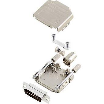 encitech DPPK15-M-DBP-K D-SUB pin strip set 180 ° Number of pins: 15 Solder bucket 1 Set