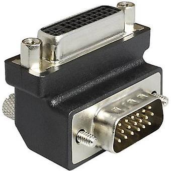 Delock DVI / VGA Adapter [1x DVI socket 29-pin - 1x VGA plug] Black