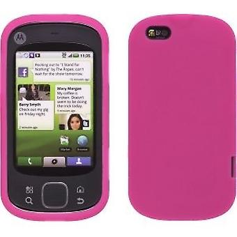 Silicone Gel Skin Case for Motorola Cliq XT - Watermelon Pink
