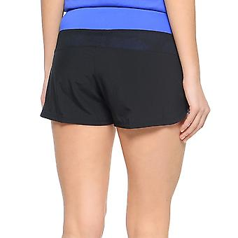 asics Womens Performance Woven 2in1 Running Gym Sports Training Shorts - Black
