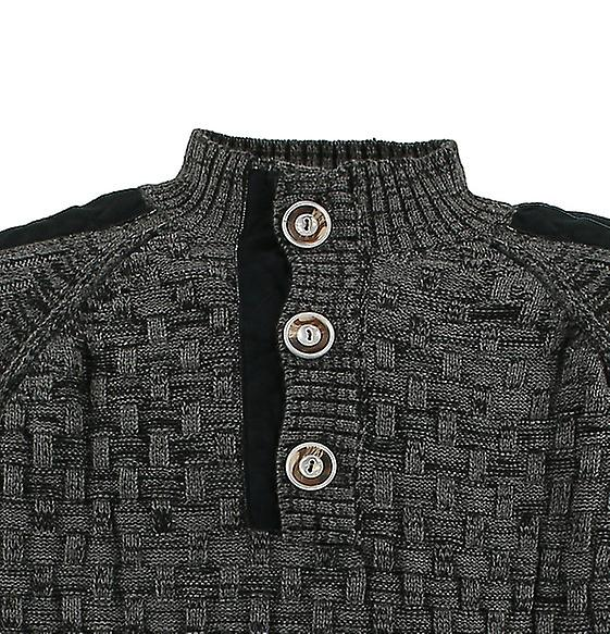 LAVECCHIA mens knitted sweater black large sizes  f6ff494347