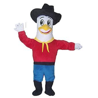 mascot SPOTSOUND of Seagull, pigeon in cowboy outfit