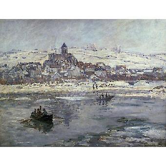 Vetheuil im Winter, Claude Monet, 50x40cm