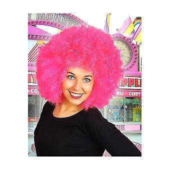 Pelucas Afro peluca rosa brillante