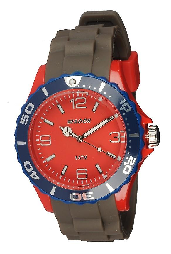 Waooh - Montre MC42 Tricolore rouge & bleu