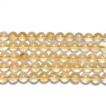Strand 45+ Golden Citrine 8mm Plain Round Beads GS19289-3