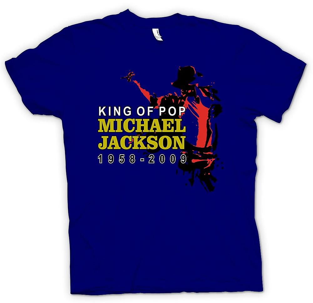 Heren T-shirt - Michael Jackson King Of Pop - Nieuw