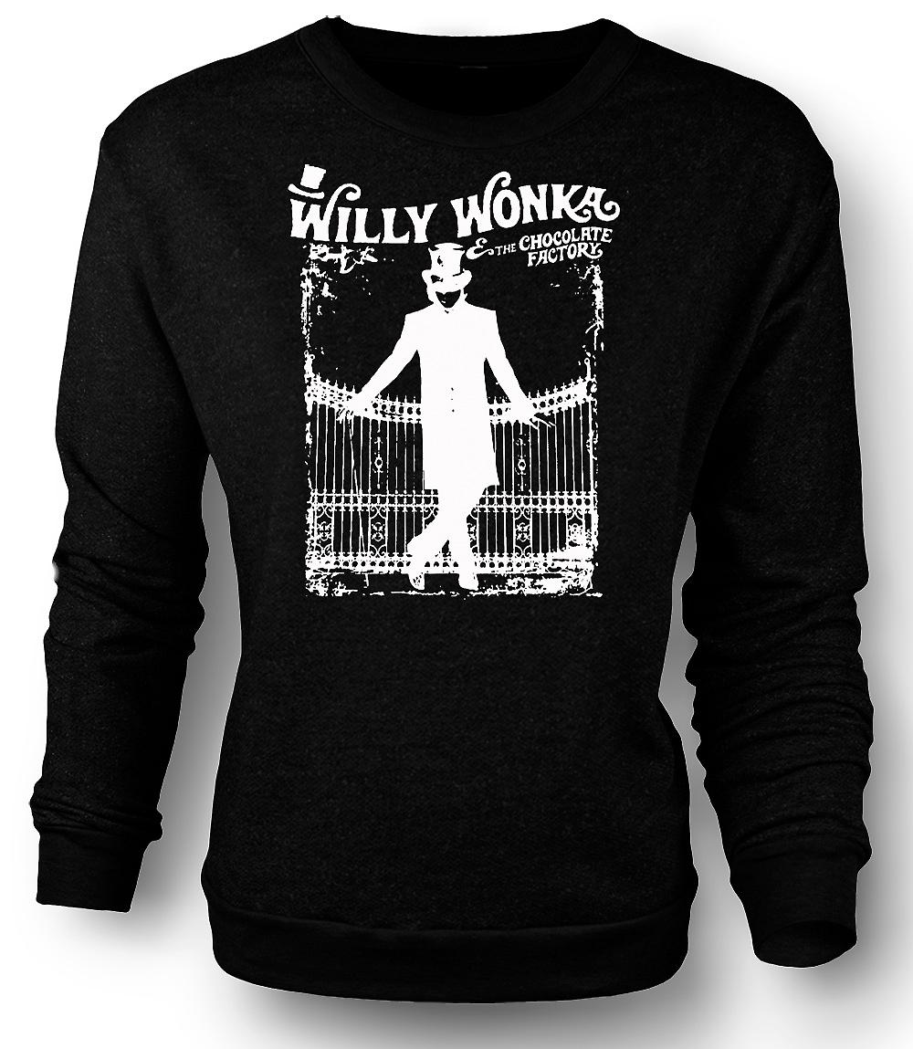 Heren Sweatshirt Willy Wonka And Chocolate Factory - BW