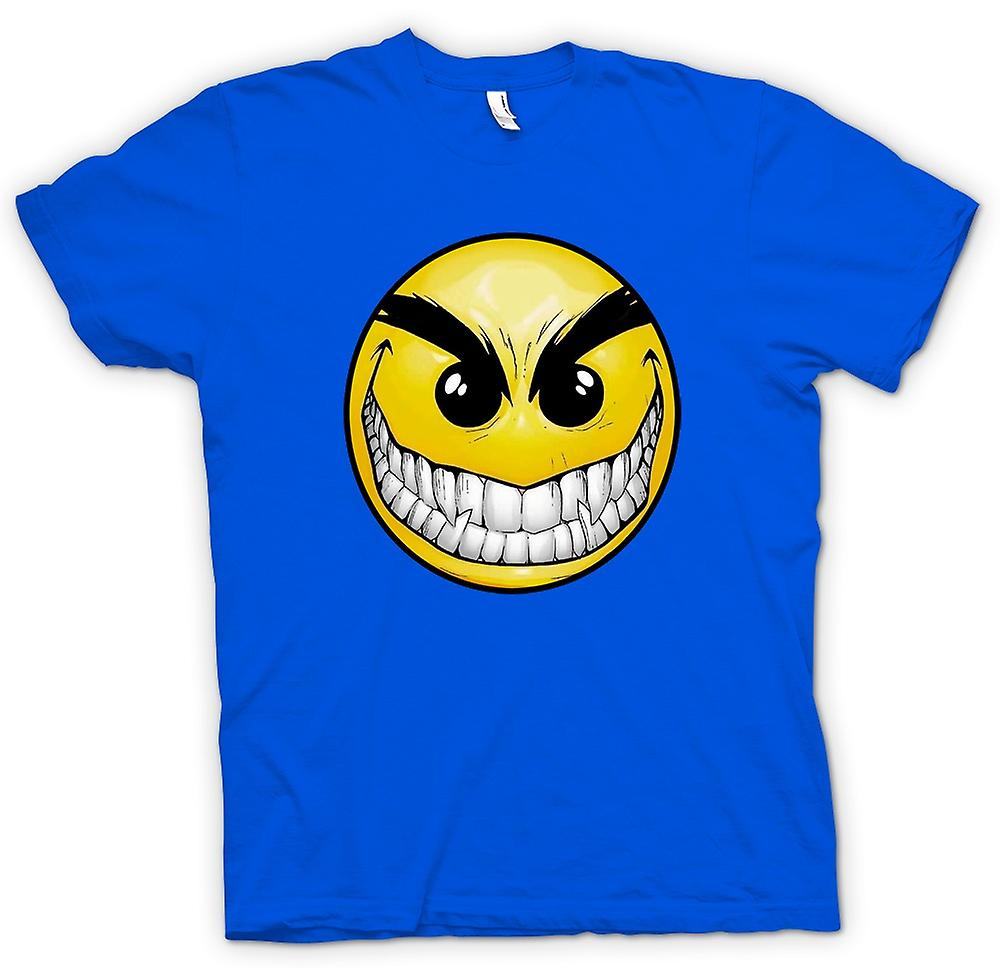 Mens t-shirt-Smiley Face - denti - Acid House
