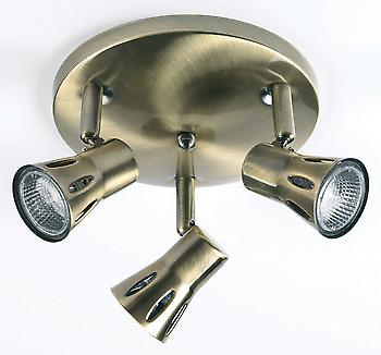 Endon 813-AN 3 Light Spotlight Fitting In Antique Brass