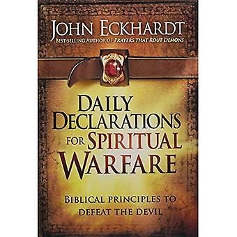 Déclarations quotidiennes pour combat spirituel