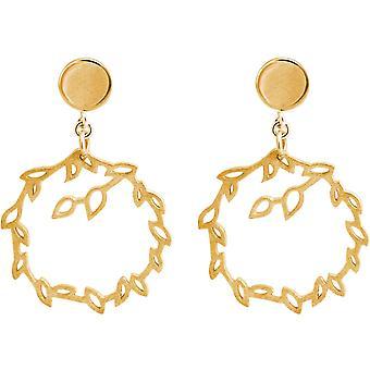 Gemshine YOGA Ohrringe Lotusblumen Creolen in 925 Silber oder hochwertig vergoldet. Nachhaltiger, qualitätsvoller Schmuck Made in Spain