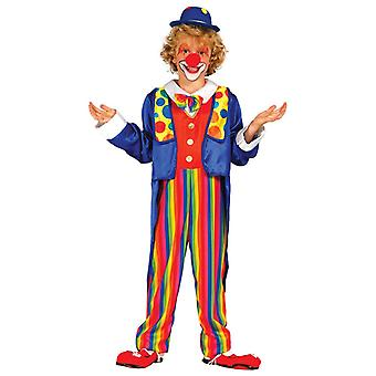 Boys Clown Circus Carnival Fancy Dress Costume