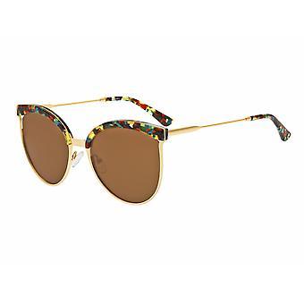 Bertha Hazel Polarized Sunglasses - Gold/Brown