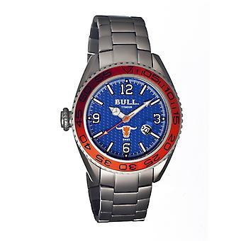 Bull Titan Hereford Schweizer Armband Herrenuhr - blau