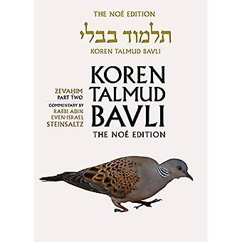 Koren Talmud Bavli Noe Edition: Volume 34: Zevahim� Part 2, Color, Hebrew/English